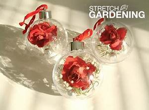make dried flower Christmas ornaments Garden Club
