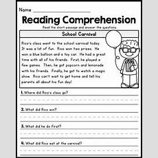 Free First Grade Reading Comprehension Passages  Set 1  1st Grade Reading Comprehension