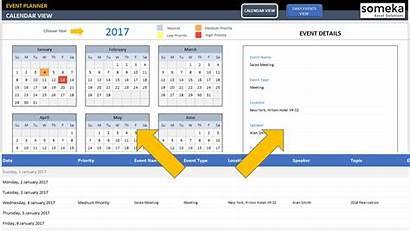 Excel Calendar Template Event Dynamic Interactive Calender