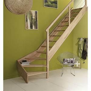 Escalier Quart Tournant Bas : escalier quart tournant bas droit urban c ble structure ~ Dailycaller-alerts.com Idées de Décoration
