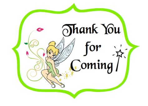 tinker bell   labels print  card stock
