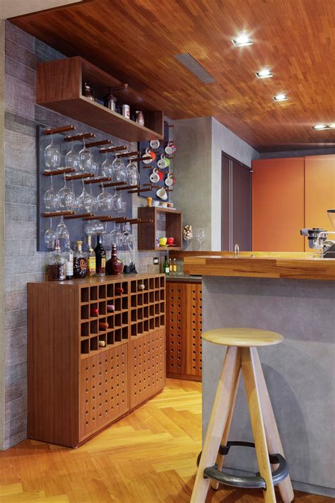 dazzling wall mounted wine racks  home bar contemporary