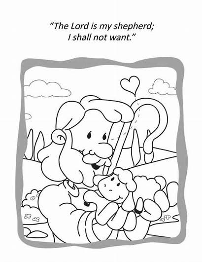 Psalm Coloring Pages Bible Activity Activities Icharacter