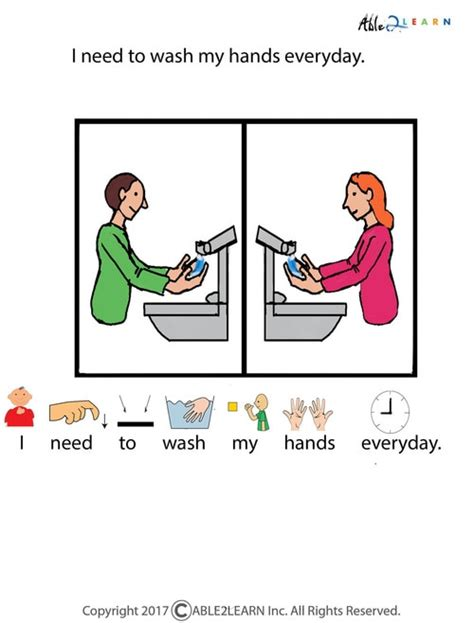 Free I Can Wash My Hands Social Story