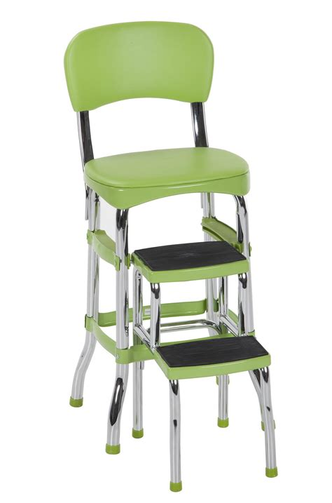 chair with step stool cosco products cosco retro counter chair step stool