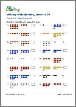 grade  math worksheet addition  pictures  images