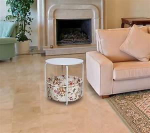 Tisch Rund Weiß : beistelltisch korb tisch couchtisch wohnzimmer landhaus metall rund weiss kaufen bei dtg ~ Markanthonyermac.com Haus und Dekorationen