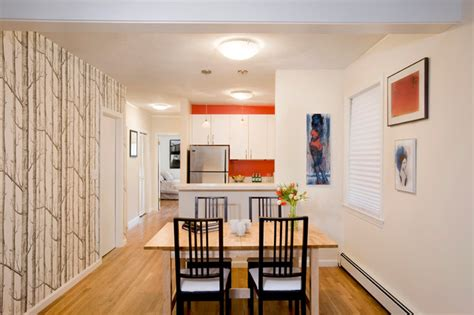 charni鑽e placard cuisine city apartment contemporain cuisine boston par allen renovations inc