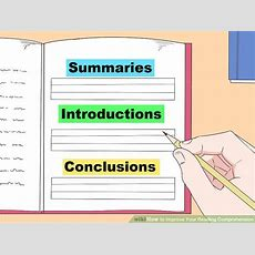4 Ways To Improve Your Reading Comprehension Wikihow