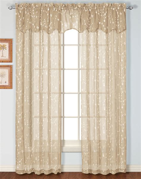 Sheer Curtain Panels by Embroidered Sheer Curtain United View All