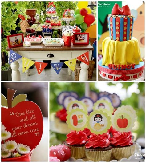 Snow White Themed 1st Birthday Party With Lots Of Cute