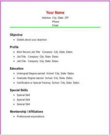 Basic Resume Structure by Creating A Basic Resume Structure