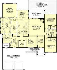 House Plans With Big Bedrooms Craftsman Style House Plan 3 Beds 2 Baths 2136 Sq Ft