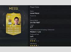 FIFA 15 player ratings Lionel Messi is No 1 ahead of