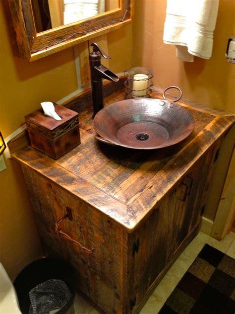 rustic furniture portfolio rustic bathroom vanities