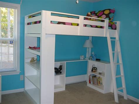 white how to build a loft bed diy projects