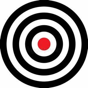 Vector transparent target illustration — Stock Vector ...