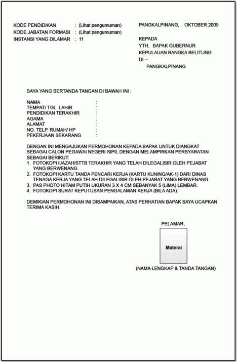 contoh  menulis amplop lamaran radio lombok