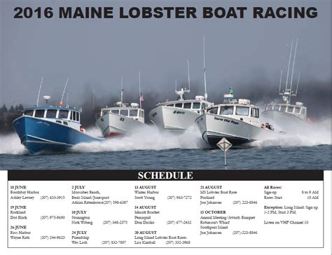 Lobster Boat Races by Blue Hill Peninsula Chamber Of Commerce 2016 Maine Lobster