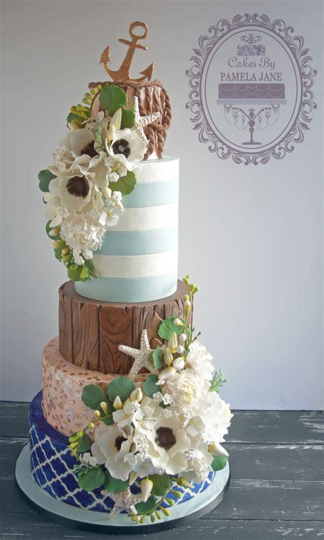 Elegant Nautical Wedding Cake Cakecentralcom