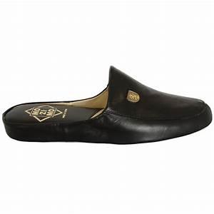 Mens full leather slipper relax williams buy mens for Letter slippers