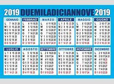 Calendario 2019 imprimible 1 Download 2019 Calendar