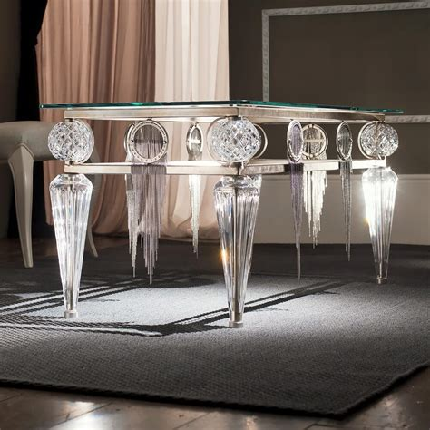 Find the perfect home furnishings at hayneedle, where you can buy online while you explore our room designs and curated looks for tips, ideas & inspiration to help you along the way. Swarovski Crystal Silver Leaf Glass Coffee Table