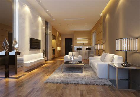 Modern Design, Stylish Living Room With White Sofa
