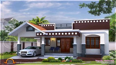 kerala style single floor house plans  elevations  description youtube