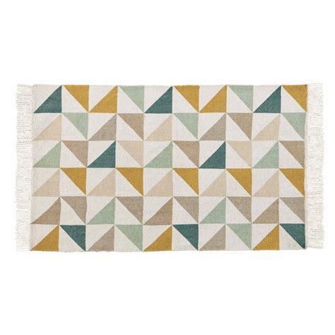 tapis motif triangles en coton  cm gaston  tapis