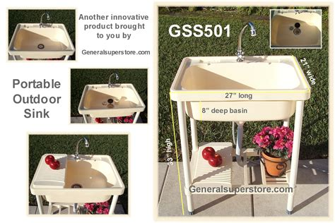 gss501 portable outdoor sink garden c cing rv