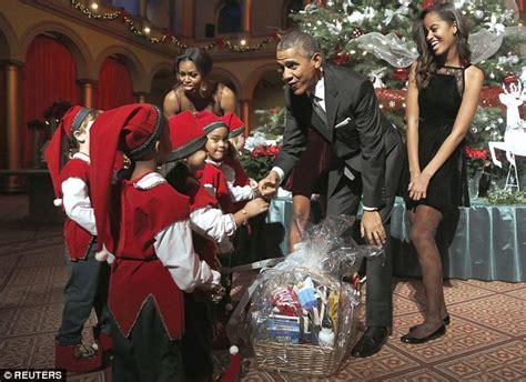 sasha obama and malia are all smiles as they meet kids at
