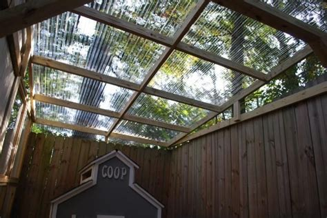 clear corrugated plastic sheets  roofing outdoor fun