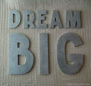 diy anthropologie letters glaze anthropologie and dream big With anthropologie wall letters