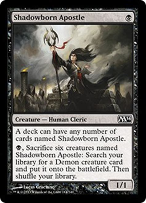 shadowborn apostle magic 2014 set gatherer magic the gathering