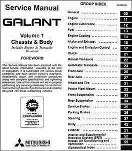 1997 Mitsubishi Galant Repair Shop Manual Set Original