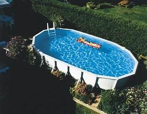 Piscine Ovale Hors Sol : piscine de jardin en 55 id es fabuleuses ~ Dailycaller-alerts.com Idées de Décoration