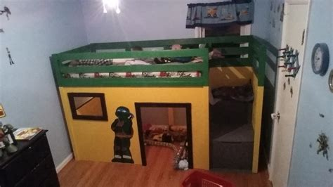 ana white ninja turtle loft bed diy projects