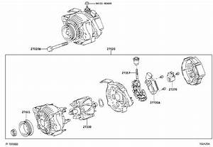 2007 Toyota Yaris Alternator Pulley  Engine  Usa