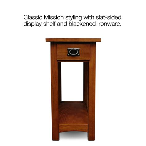 12 in accent table leick furniture mission side table medium oak 3801
