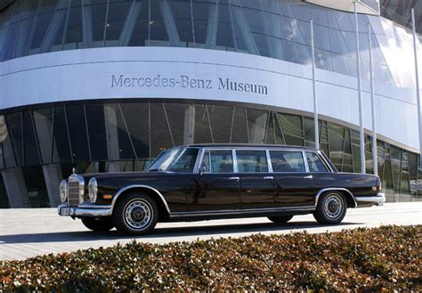 Mercedes has always been at the top of luxury automobiles, and this 1975 pullman maybach limo exemplifies their long history of making fine cars. Images of Mercedes-Benz 600 6-door Pullman Limousine (W100 ...