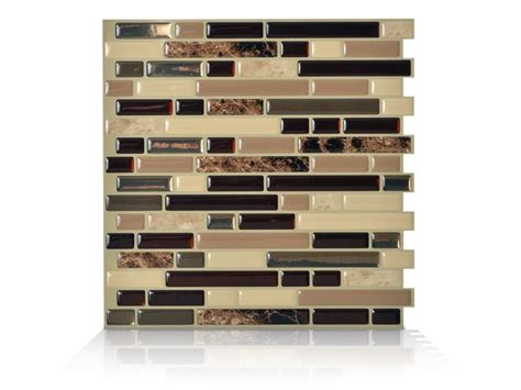 Bellagio Mosaik Smart Tiles by Smart Tiles 6 10 13 Inch X 10 Inch Peel And Stick