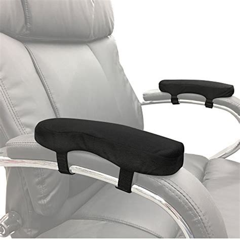 Memory Foam Soft Chair Arm Pad. Velcro to Existing Armrest