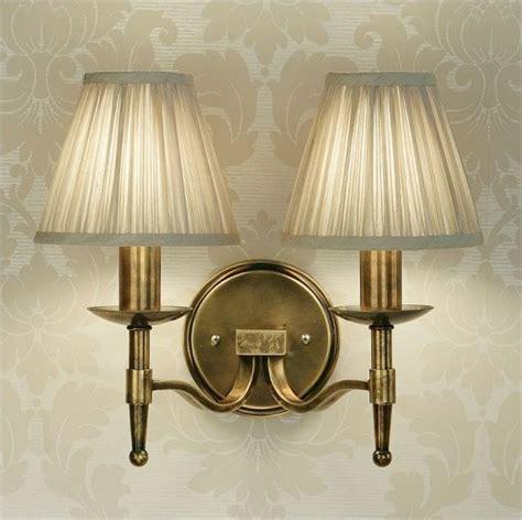 antique brass double wall light