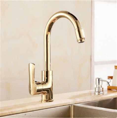 antique brass rotatable golden kitchen mixer sink tap