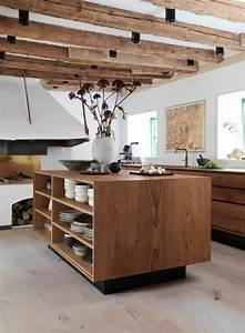 Cuisine équipée En Bois : la cuisine quip e avec lot central 66 id es en photos ~ Edinachiropracticcenter.com Idées de Décoration