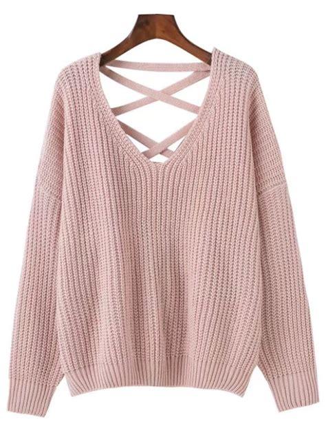 criss cross sweater 39 39 criss cross oversized sweater goodnight macaroon