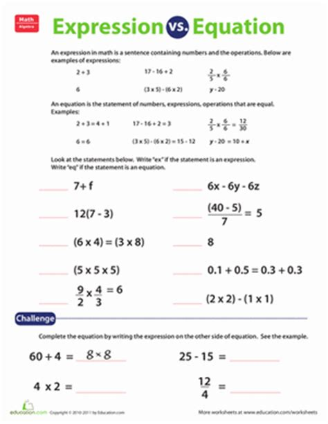 expression  equation projects   teaching math