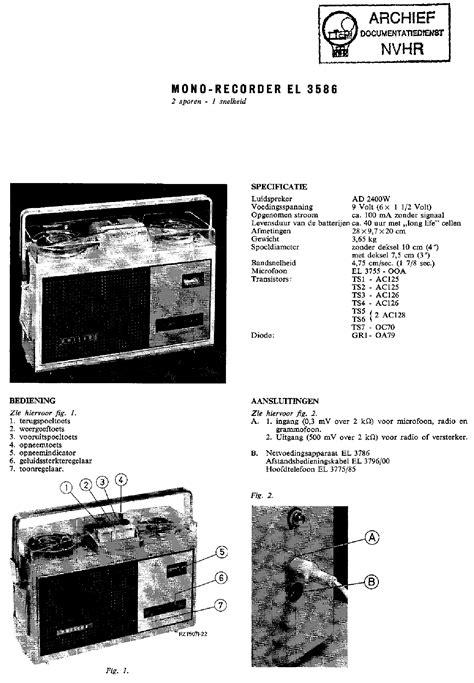 Philips Portable Mono Recorder Magnetophone