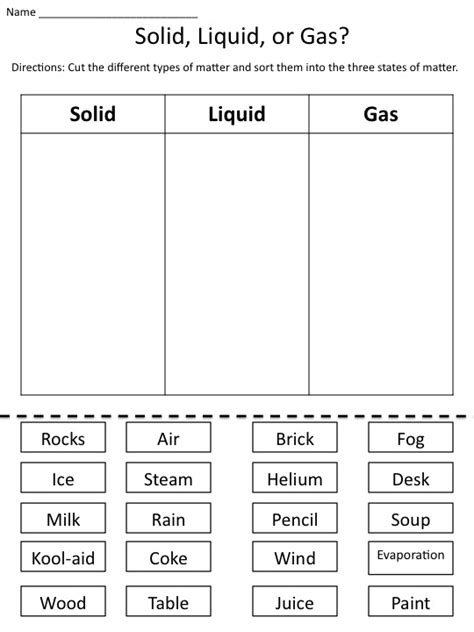12 best images of states of matter worksheets kindergarten